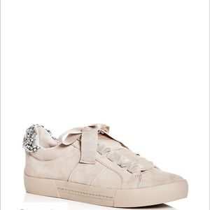 Joie embellished suede lace up sneakers 8.5/38.5